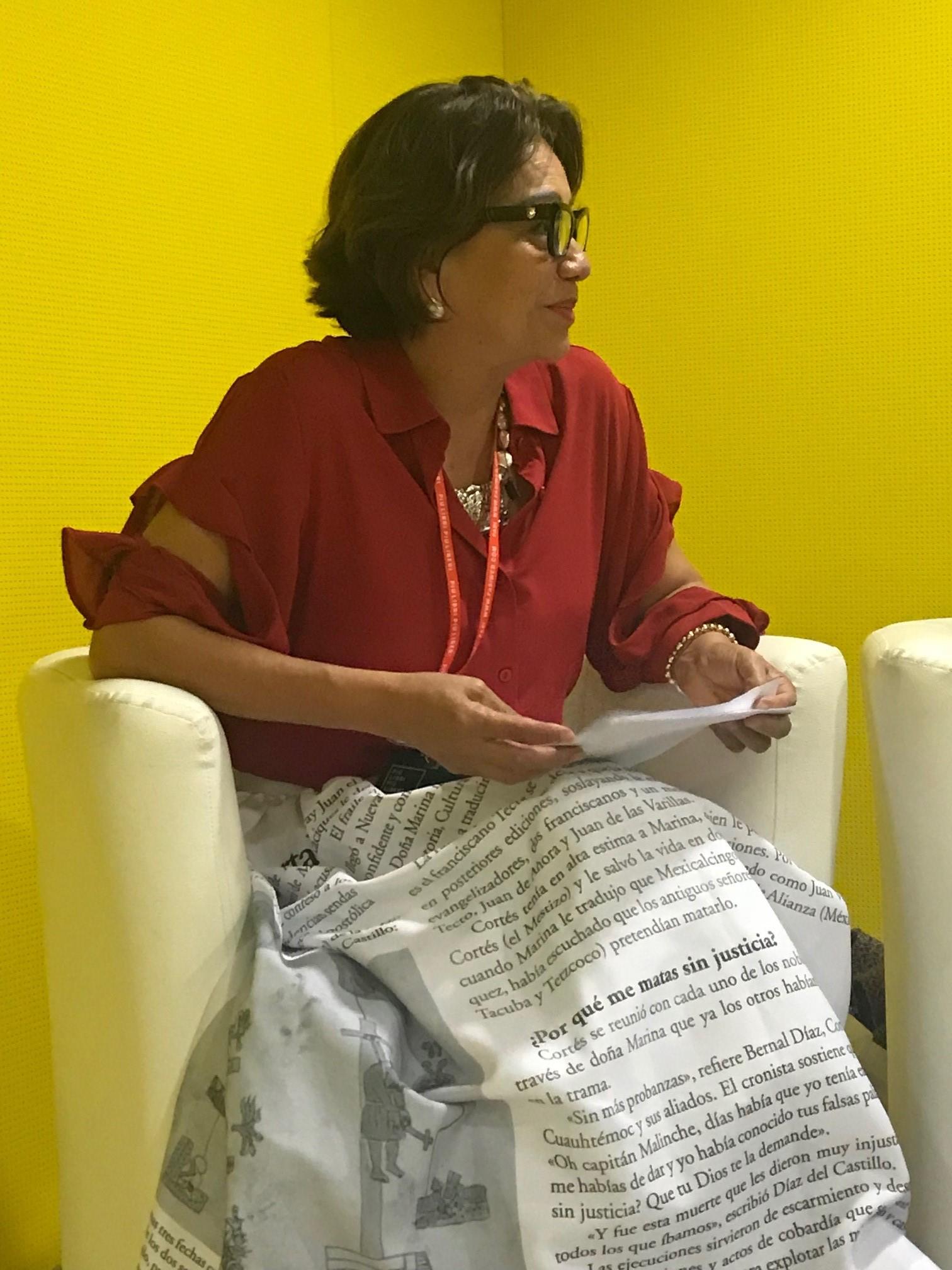 La periodista Blanca Moreno durante su disertación.